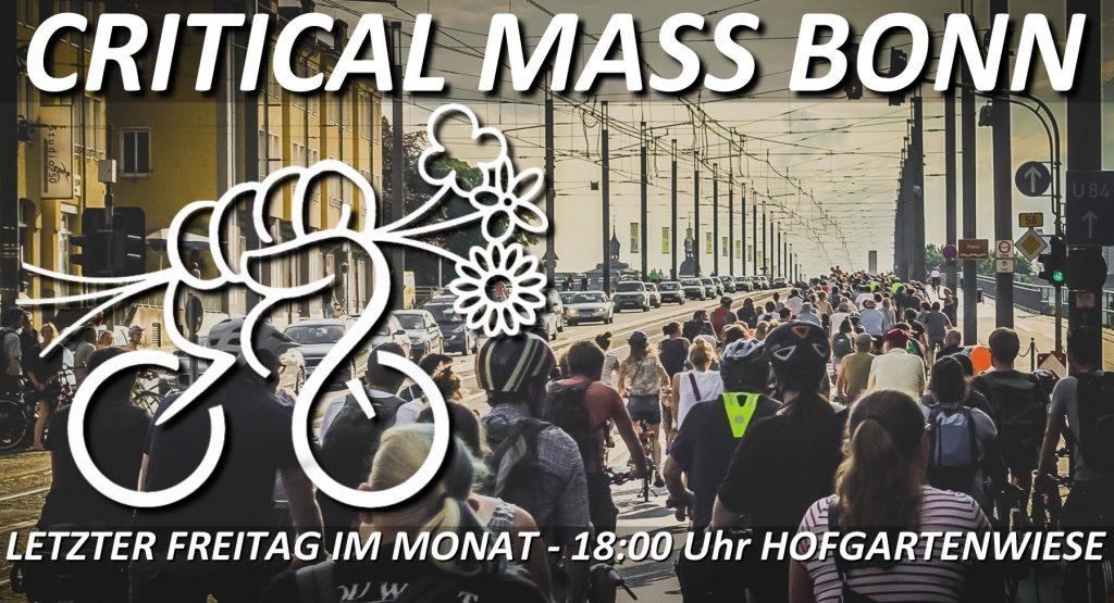 Critical Mass Bonn - letzter Freitag im Monat - 18:00 Uhr Hofgartenwiese